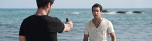 Gamboa dispara cuatro tiros a Ulises en la playa, después de que este se despida de Ainhoa